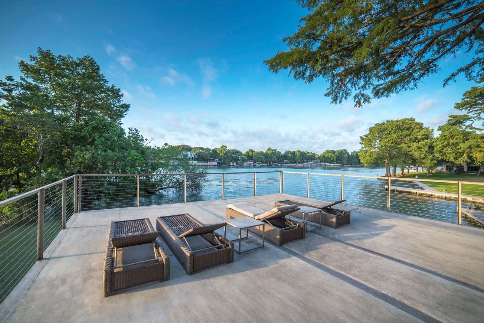 Lake McQueeney Pool Deck